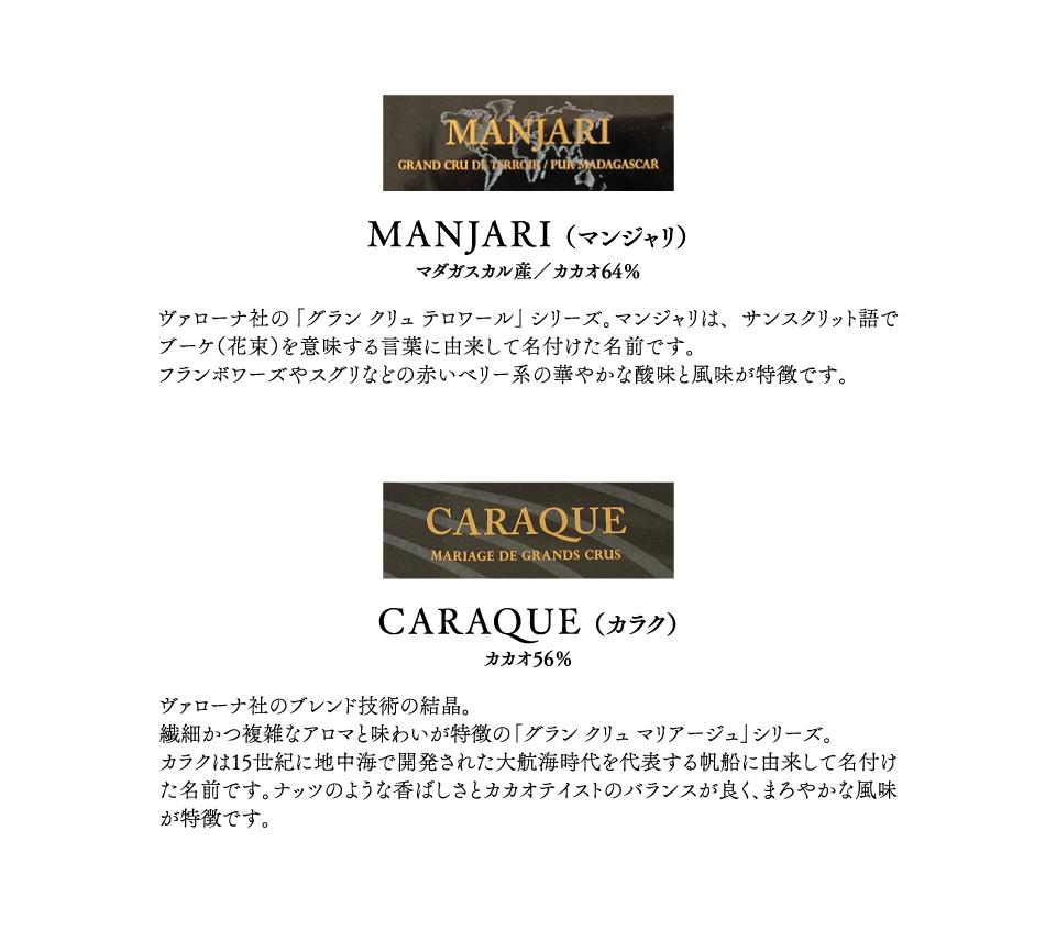 3種類のクーベルチュールチョコレートによる「黄金ブレンド比」